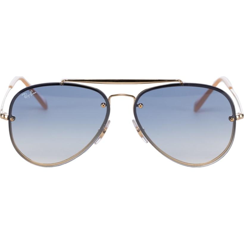 949dfbab018e8 Ray-Ban  Blaze Aviator Sunglasses - Gold Light Blue Gradient ...