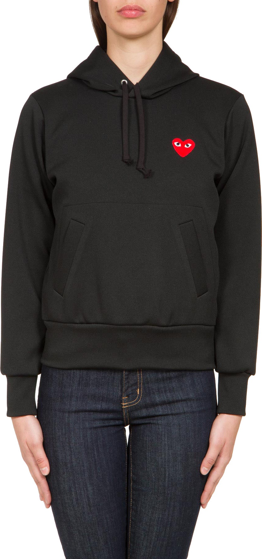 e271f429b734 Comme des Garçons Play  Red Heart Pullover Hoodie - Black ...