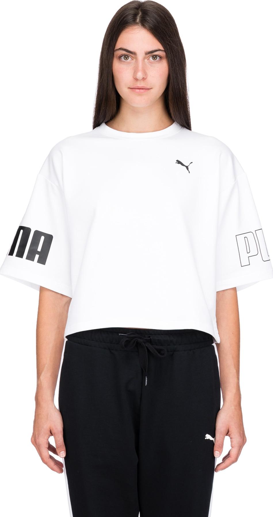 cdf7568597 Puma: Modern Sport Sweat T-Shirt - White   influenceu