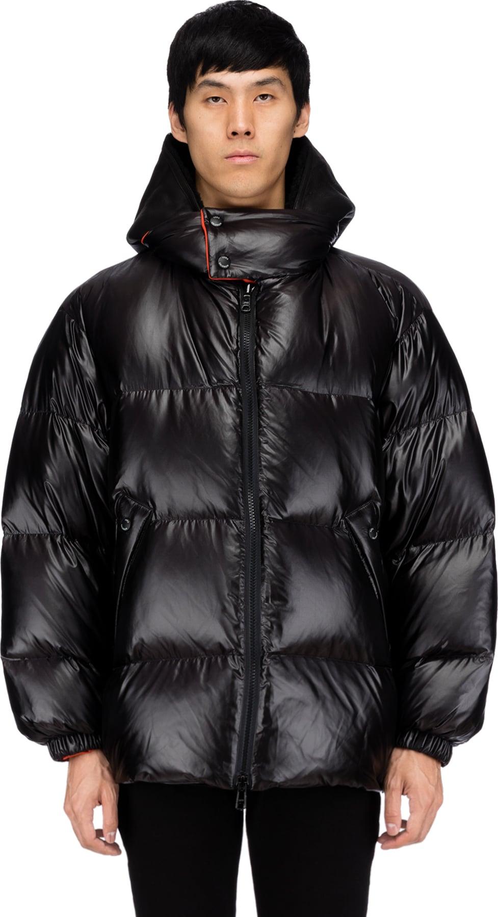 Orange Oversized Jacket Down Hooded Blackrio Yves Salomon w1YAw8