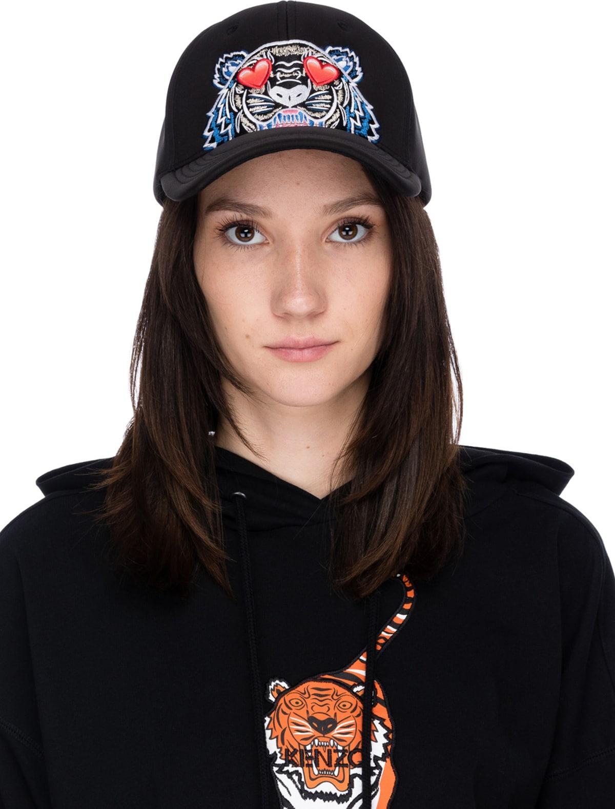 af85d526 Kenzo: Tiger Hearts Neoprene Cap - Black | Influence U