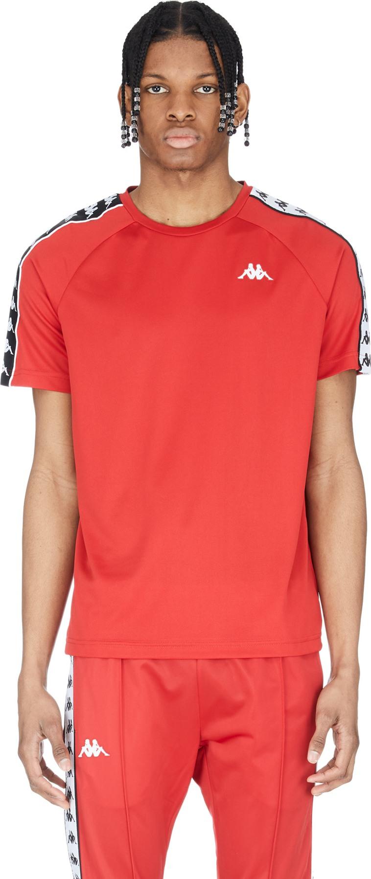 16d7eac29e Kappa - 222 Banda Coenly Slim T-Shirt - Red/Black/White