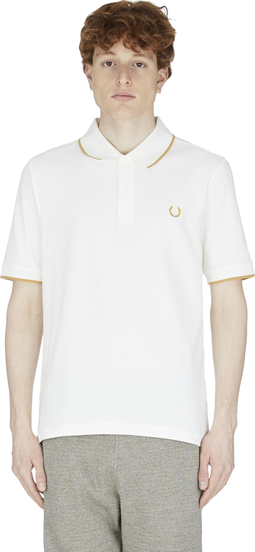 971406170 Fred Perry  Fine Tipped Polo Shirt - Snow White