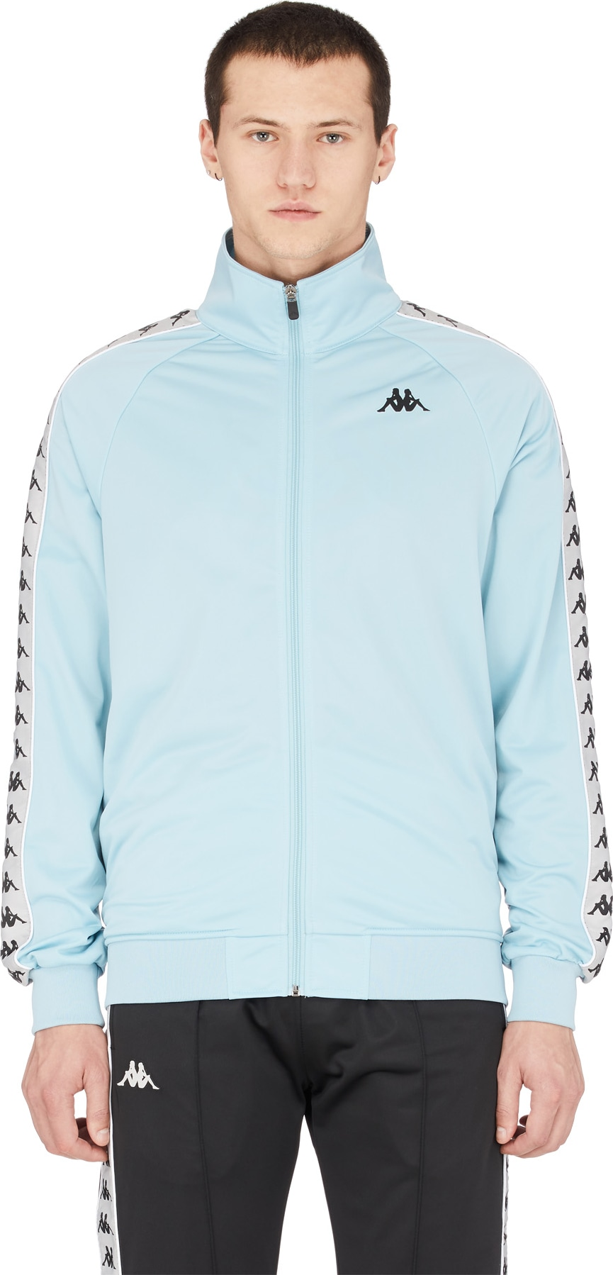 13f941db90 Kappa - 222 Banda Anniston Track Jacket - Azure/Grey Silver/Black