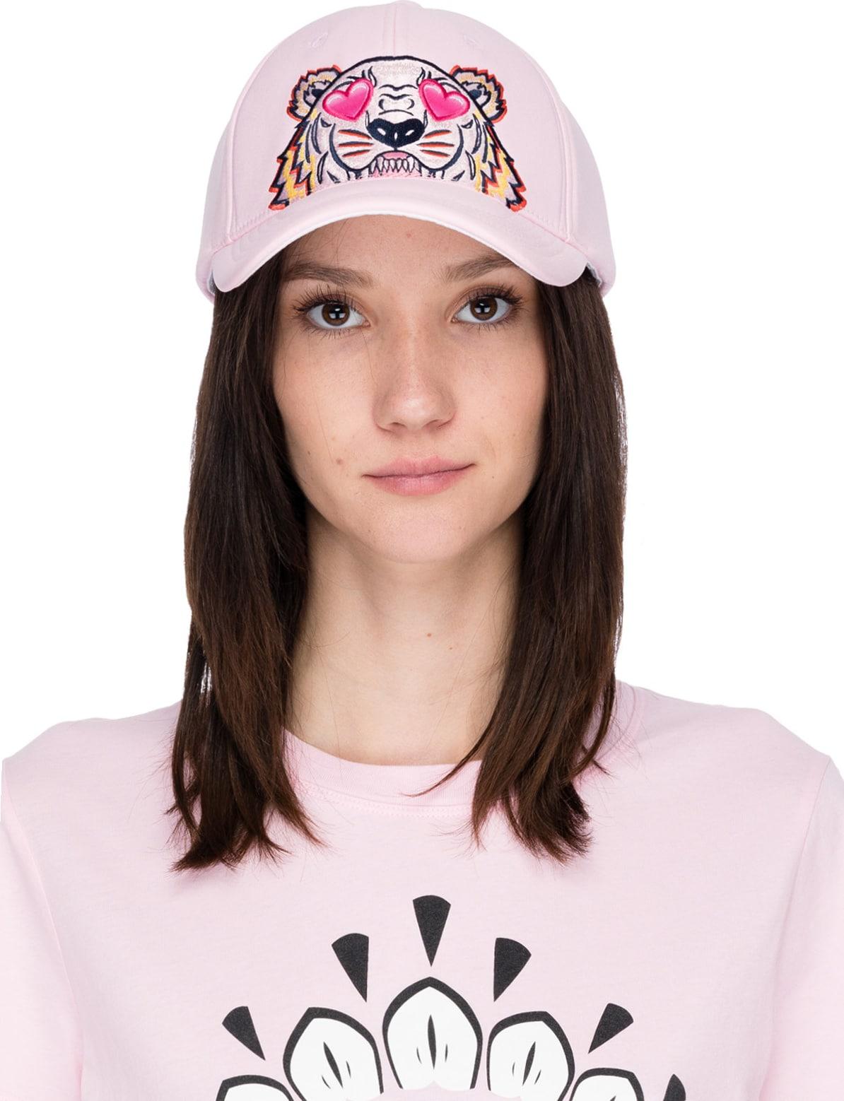 46324b54c0 Kenzo - Tiger Hearts Neoprene Cap - Flamingo Pink