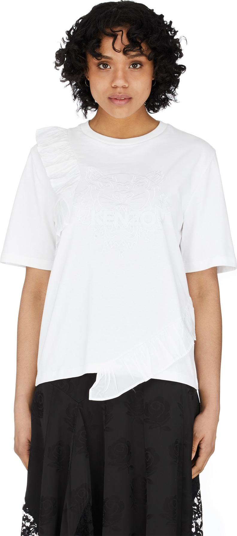 3ce7045073 Kenzo - Tiger Ruffle T-Shirt - White