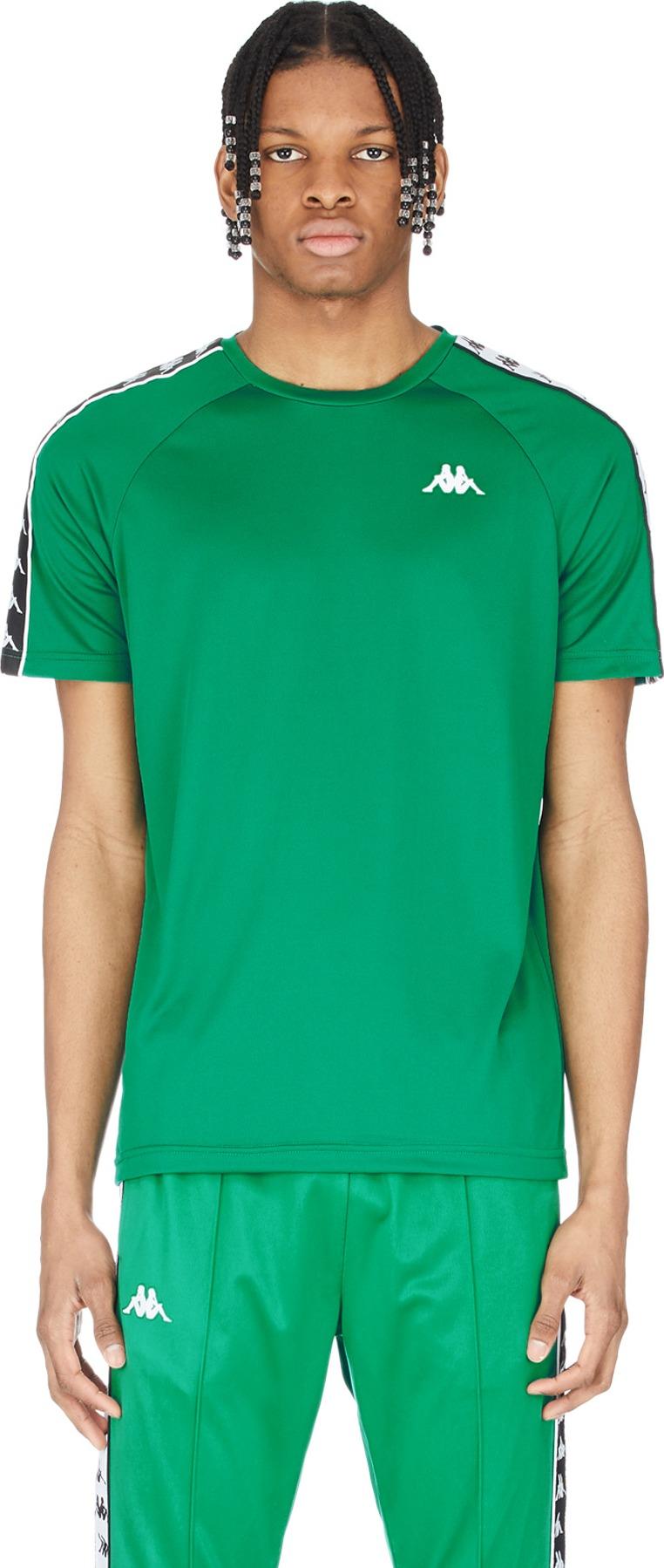 ddb92fb364 Kappa - 222 Banda Coenly Slim T-Shirt - Green/Black/White