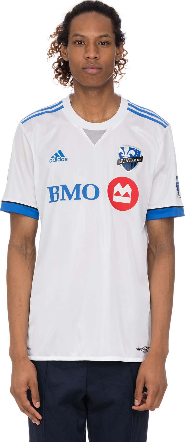 cheap for discount a2495 5b71f adidas Originals - Authentic Montreal Impact Away Jersey - White/Blue