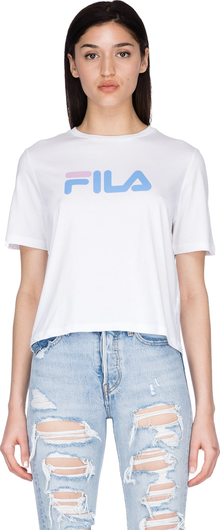 271f3dbf6ece Fila  Miss Eagle T-Shirt - White Lake Blue Orchid
