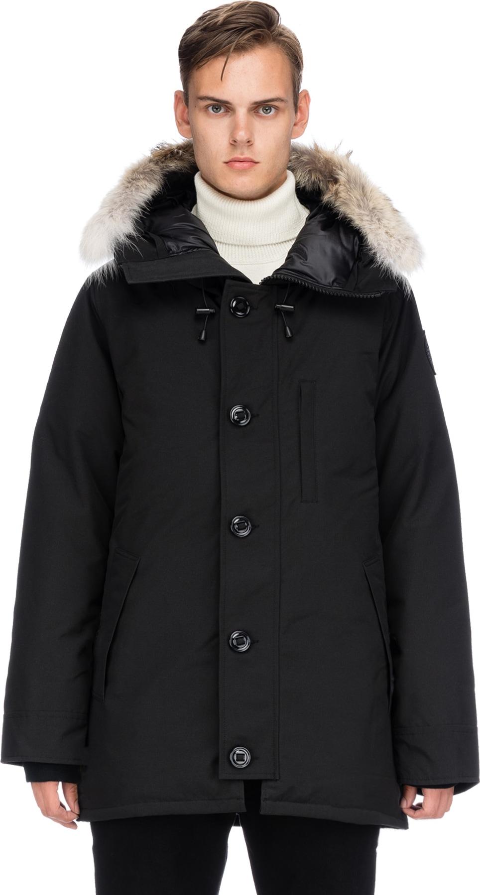 canada goose chateau parka black men's jackets