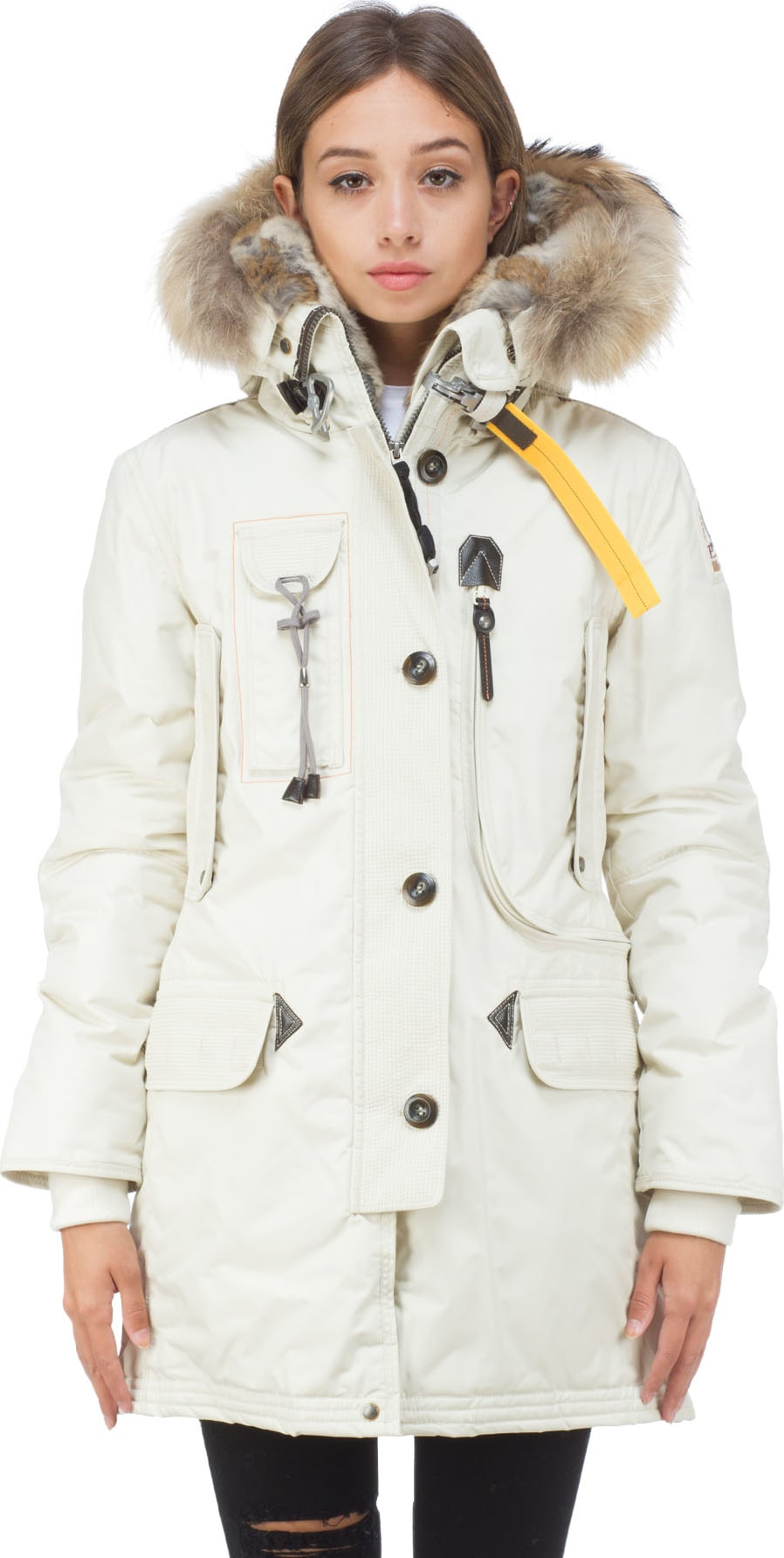 SHOP Women - PARAJUMPERS: Kodiak Parka - Chalk - Coats & Jackets ...