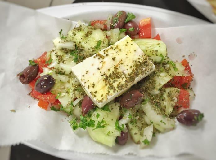 Greek Salad dish at Nia's Greek