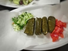 Dolmades or Stuffed Grape Leaves, traditional Greek appetizer