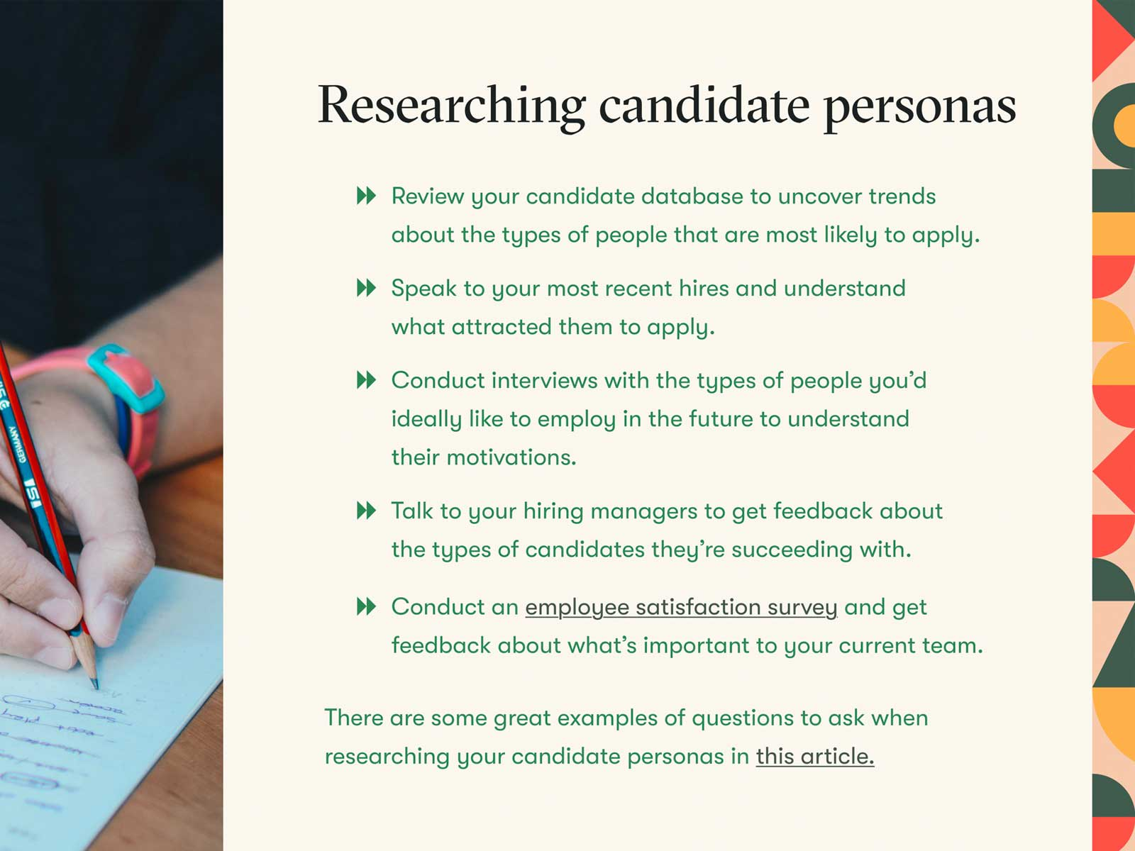 Candidate Persona Research Example