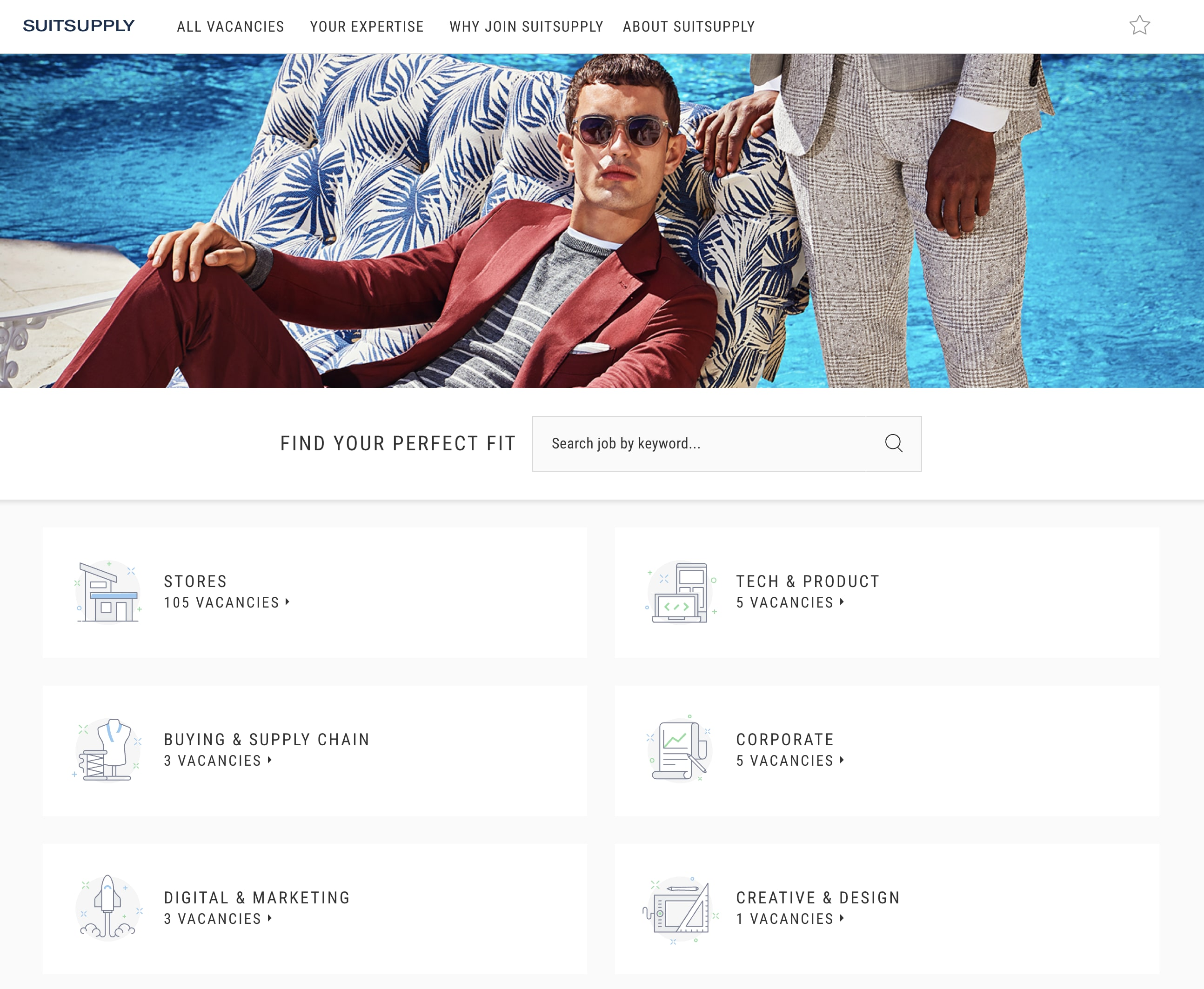 Suitsupply Career Page Example