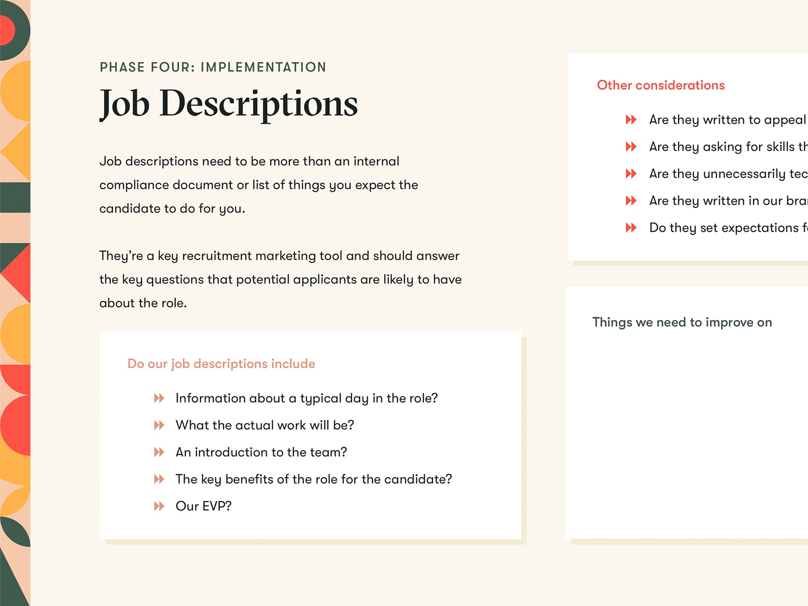 Job Description Page from Employer Branding Template