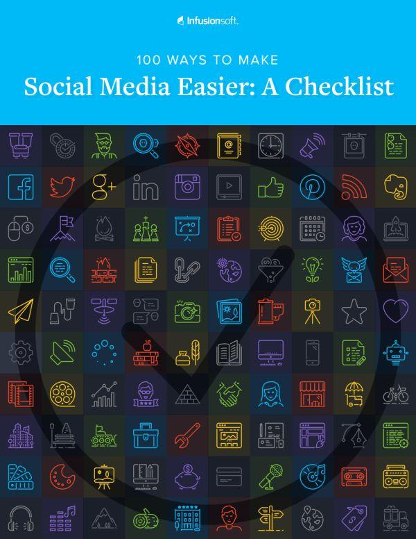 100 Ways to Make Social Media Easier: A Checklist