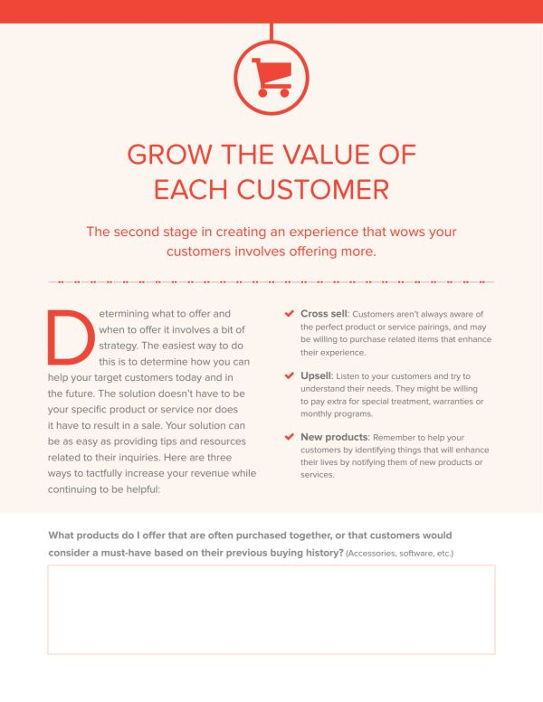 Worksheet: 50 ways to WOW your customers
