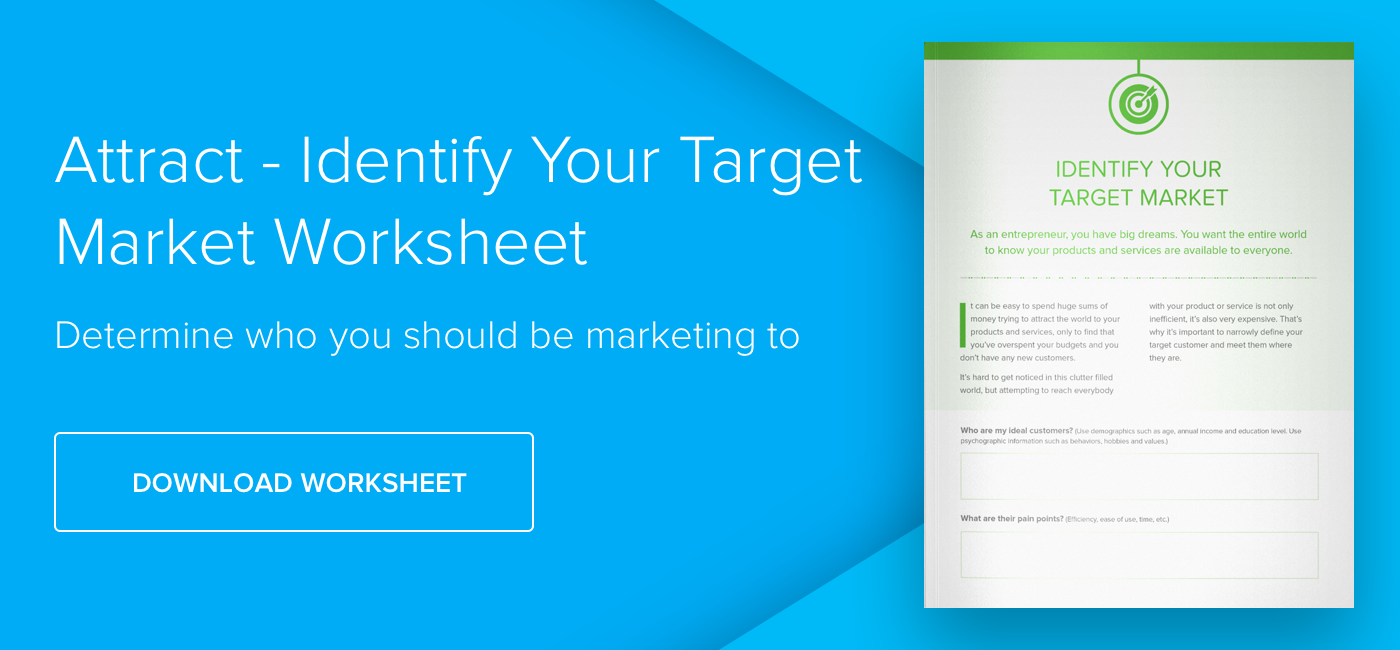 Worksheet: How to identify your target market - Download Now
