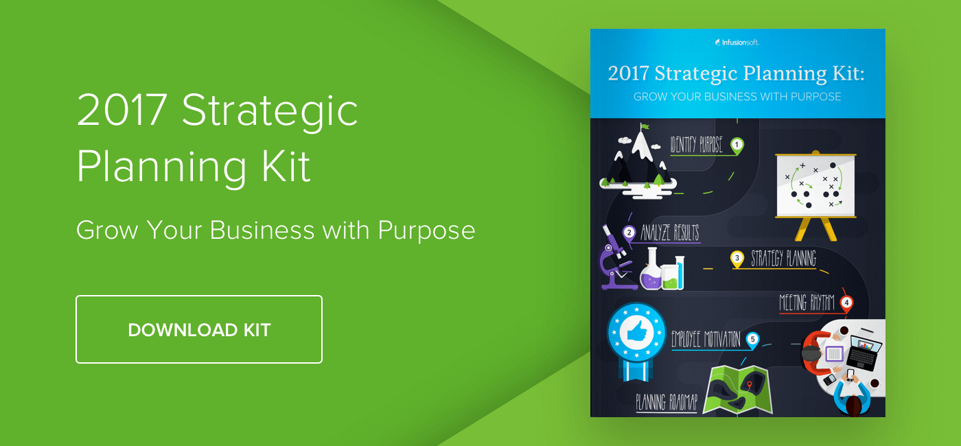 Download Infusionsoft's 2017 Strategic Planning Kit to start growing your business with purpose