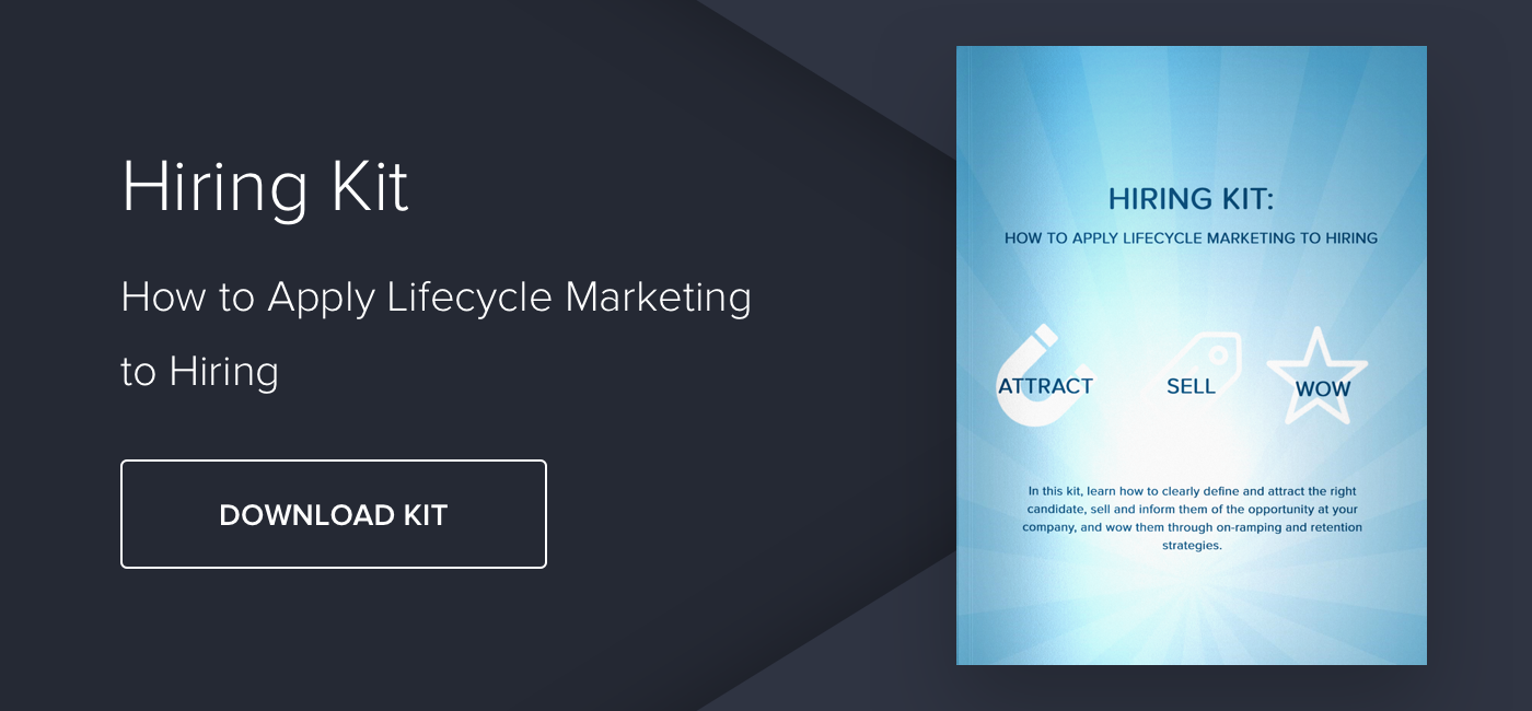 Hiring Kit: How to Apply Lifecycle Marketing to Hiring - Download Now