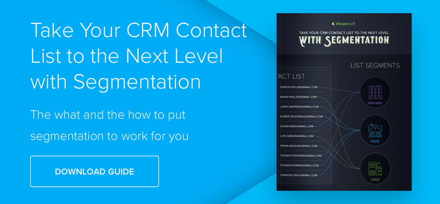 Take Your CRM Contact List to the Next Level with Segmentation - Download Now