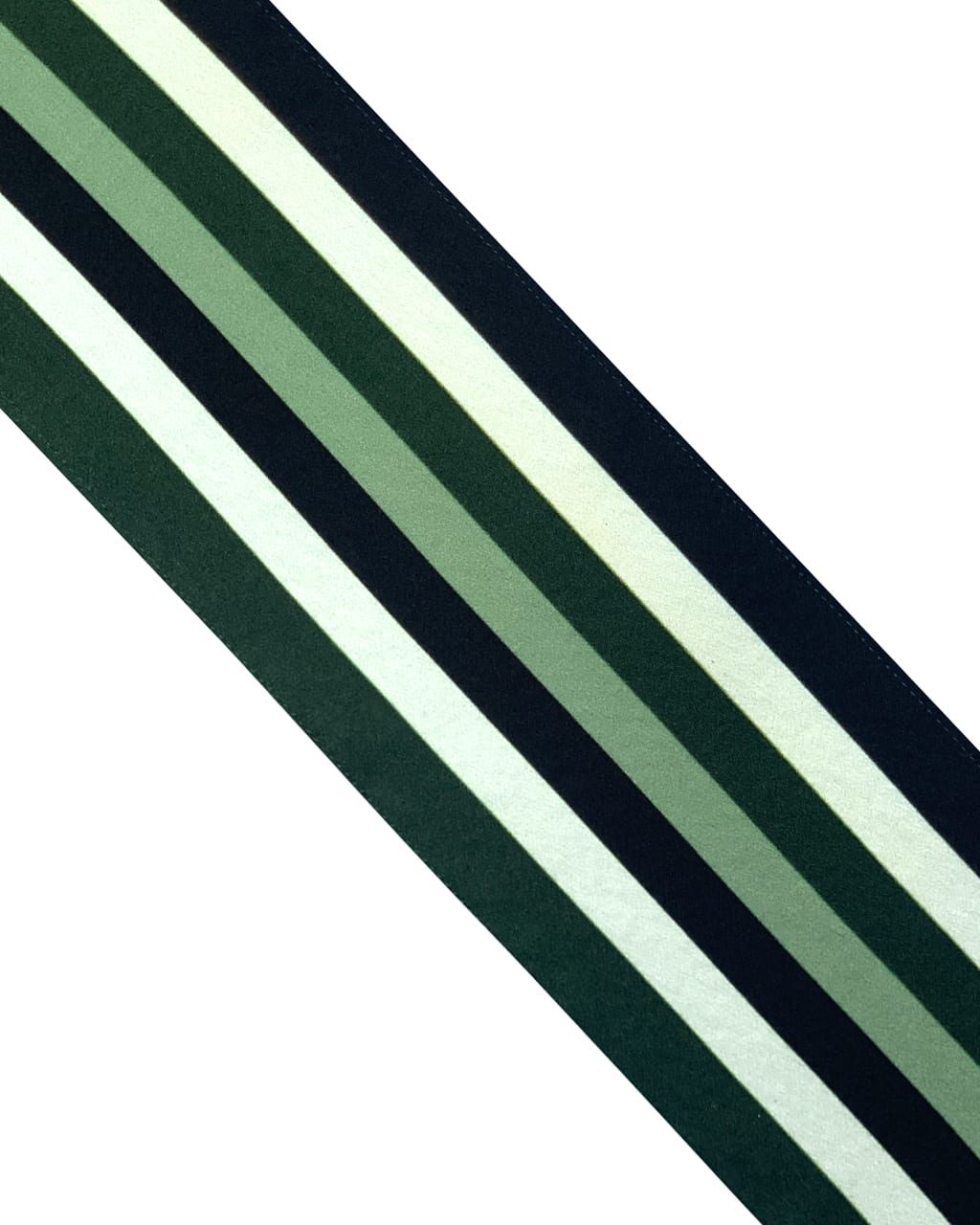 Henley Silk Stripe Neck Scarf Green