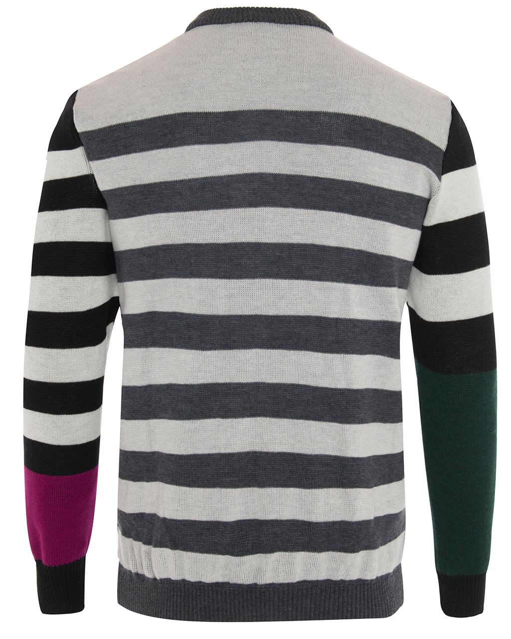Colour Block Striped Jumper