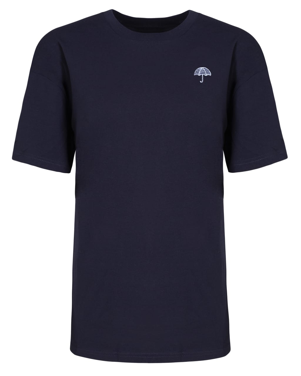 Umbrella Embroidered T-Shirt Navy Men