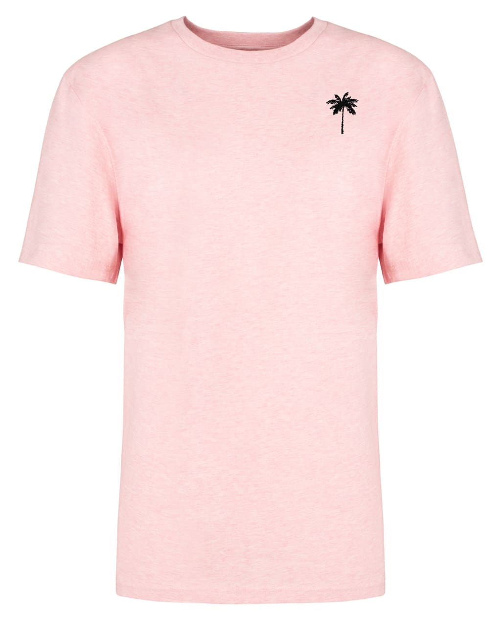 Palm Tree Embroidered T-Shirt Pink