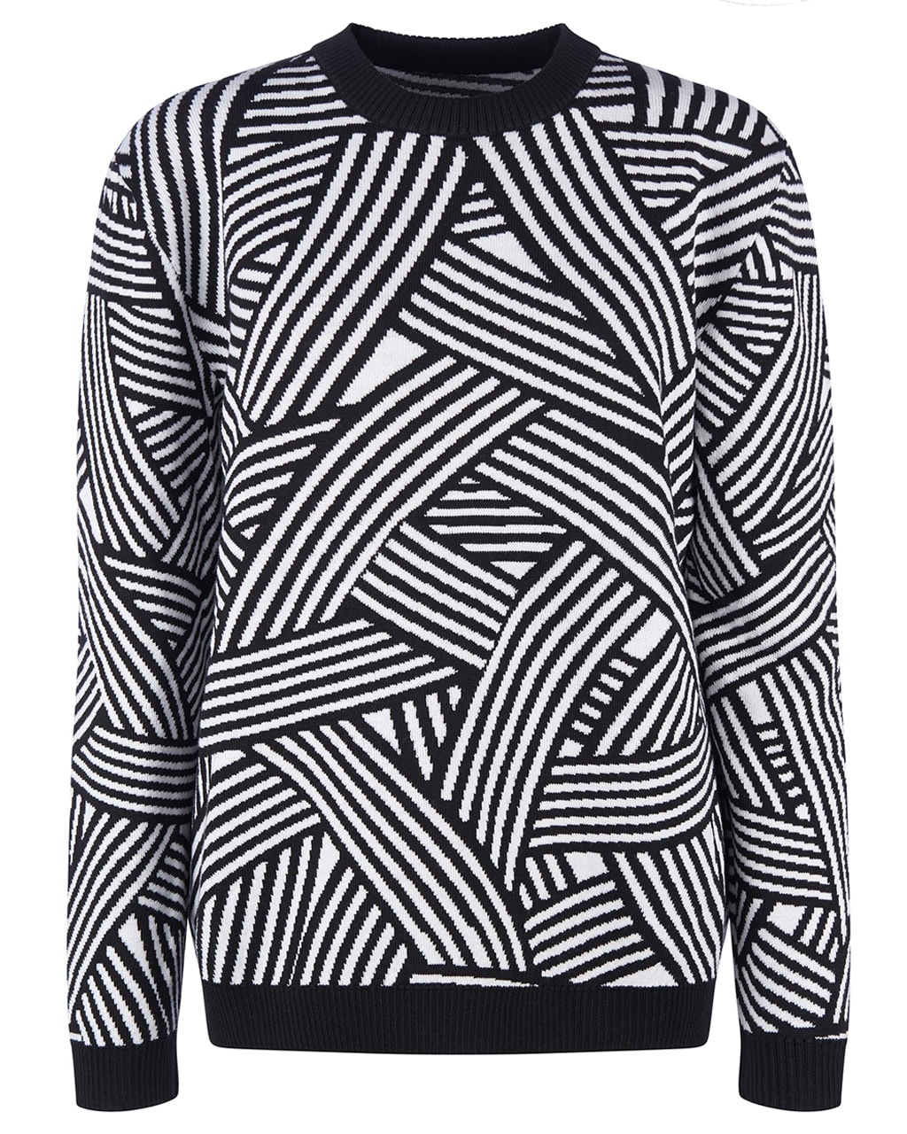 Geometric Striped Jumper