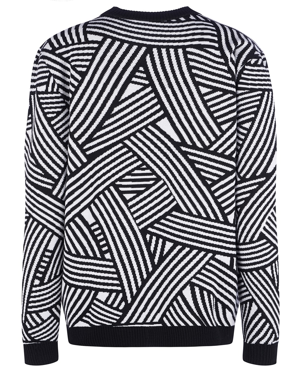 Geometric Striped Jumper