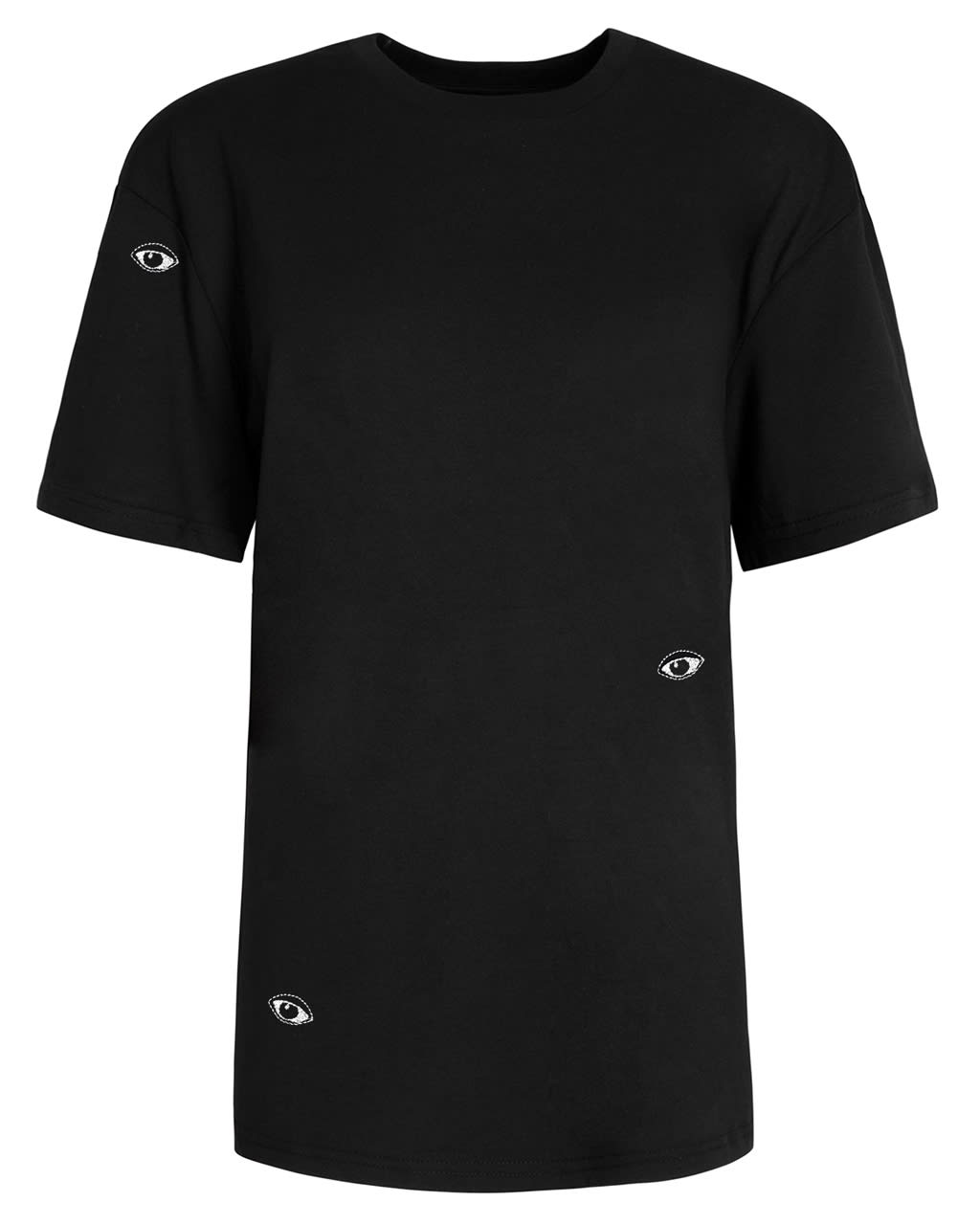 Eyes Embroidered T-Shirt Black