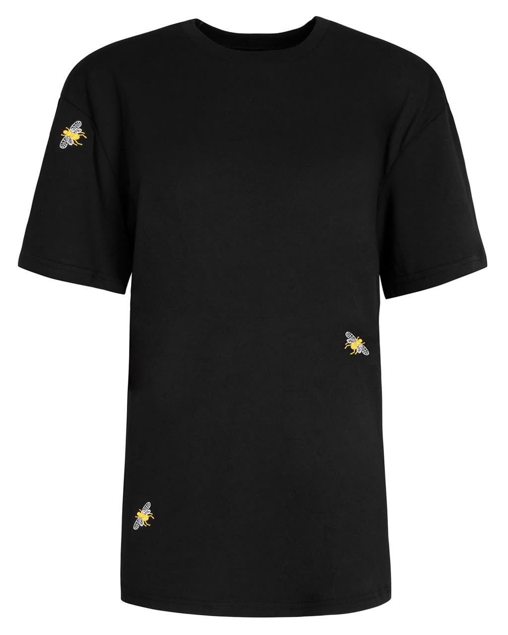 Bee Embroidered T-Shirt Black