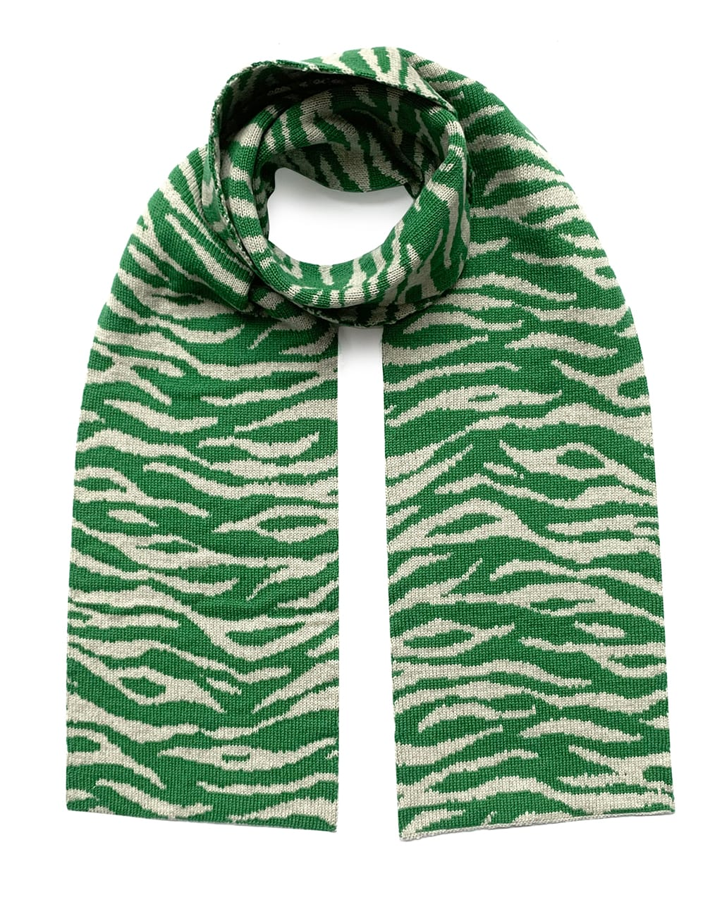 Tiger Wool & Cashmere Scarf Green