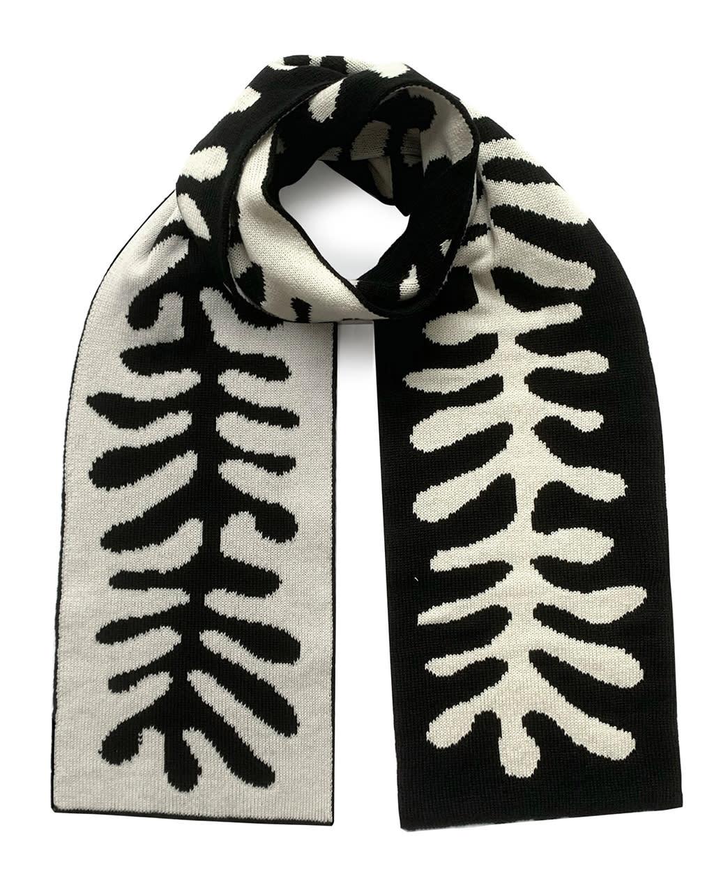 Organic Shape Wool & Cashmere Scarf
