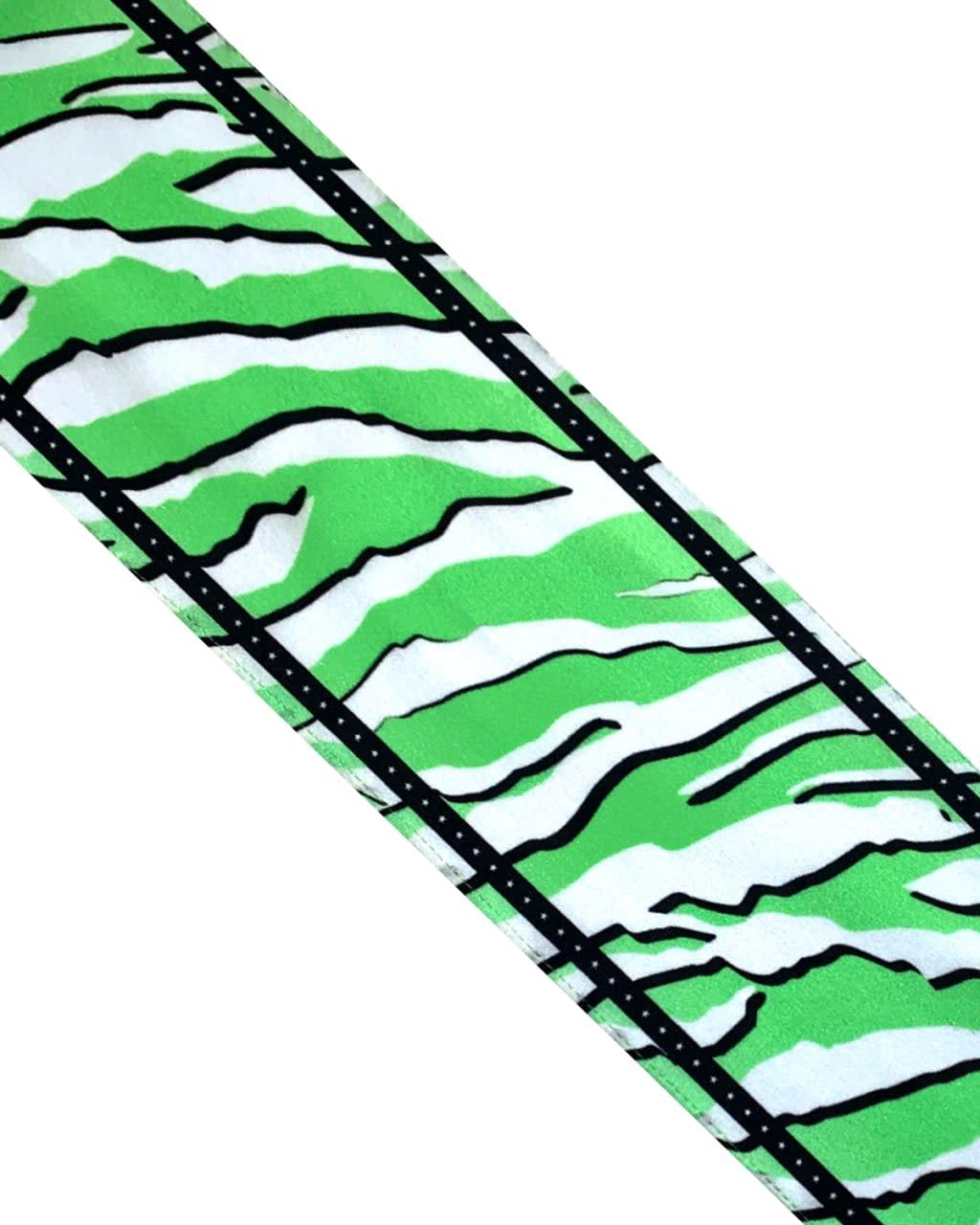 Wild Tiger Silk Neck Scarf Mint Green