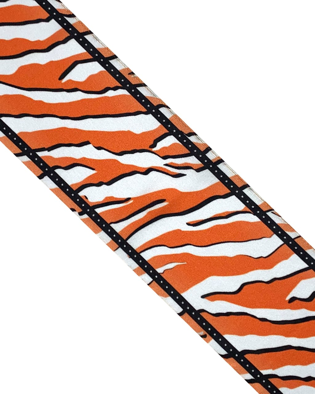 Wild Tiger Silk Neck Scarf Orange