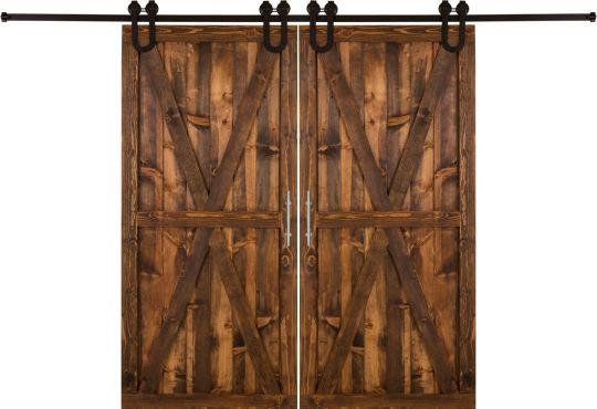 Double Bi Parting Barn Doors