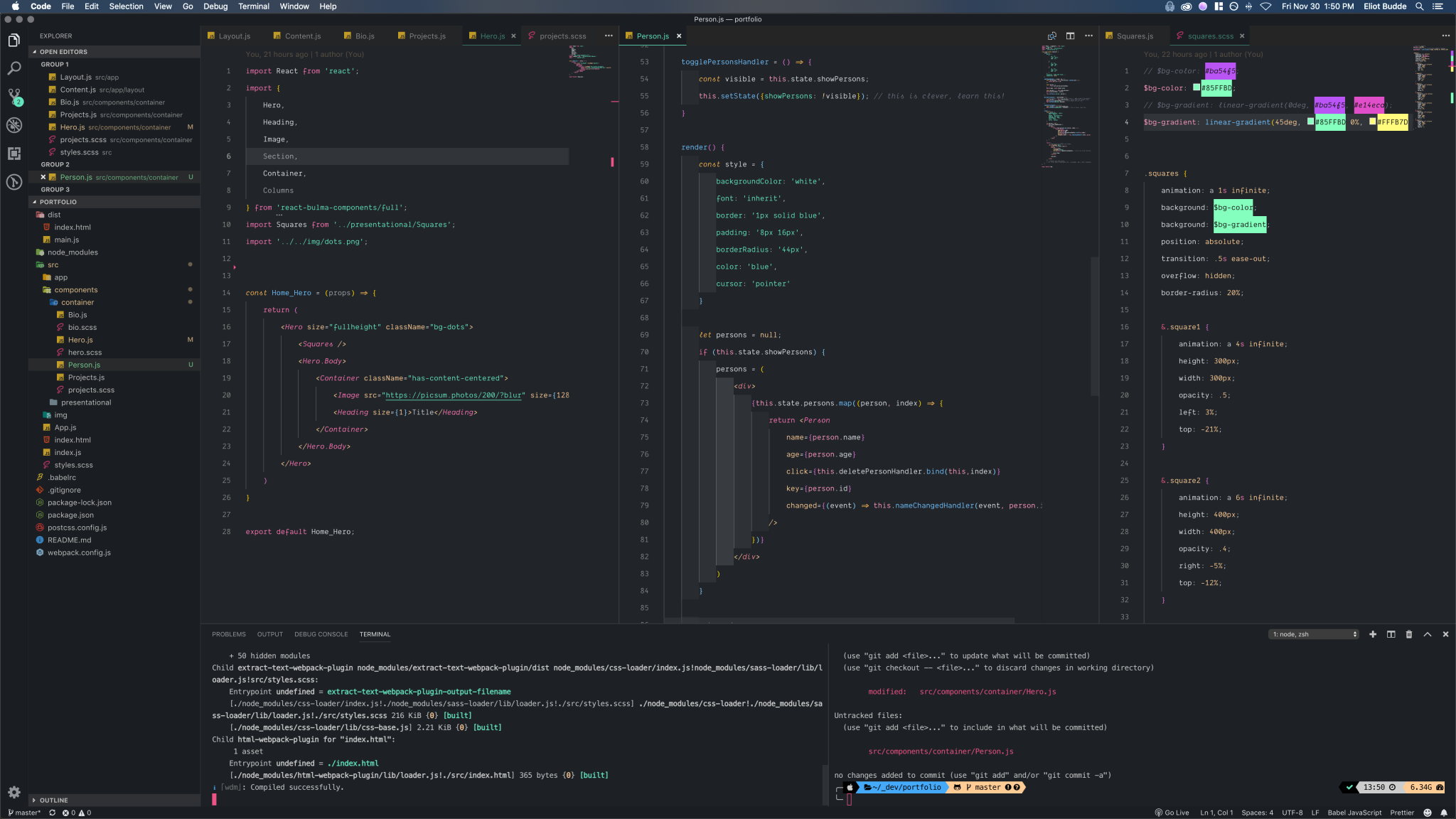 Screenshot of _inkSea Theme