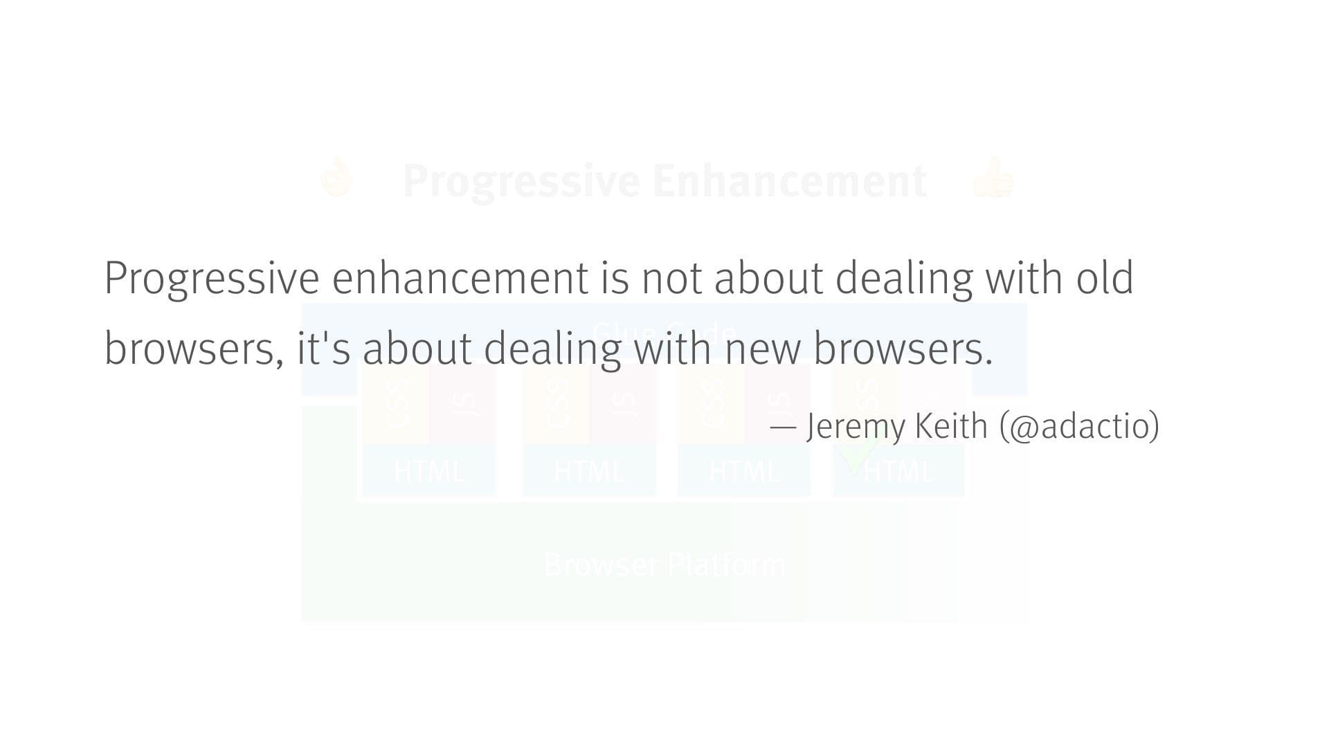 progressive enhancement and browsers