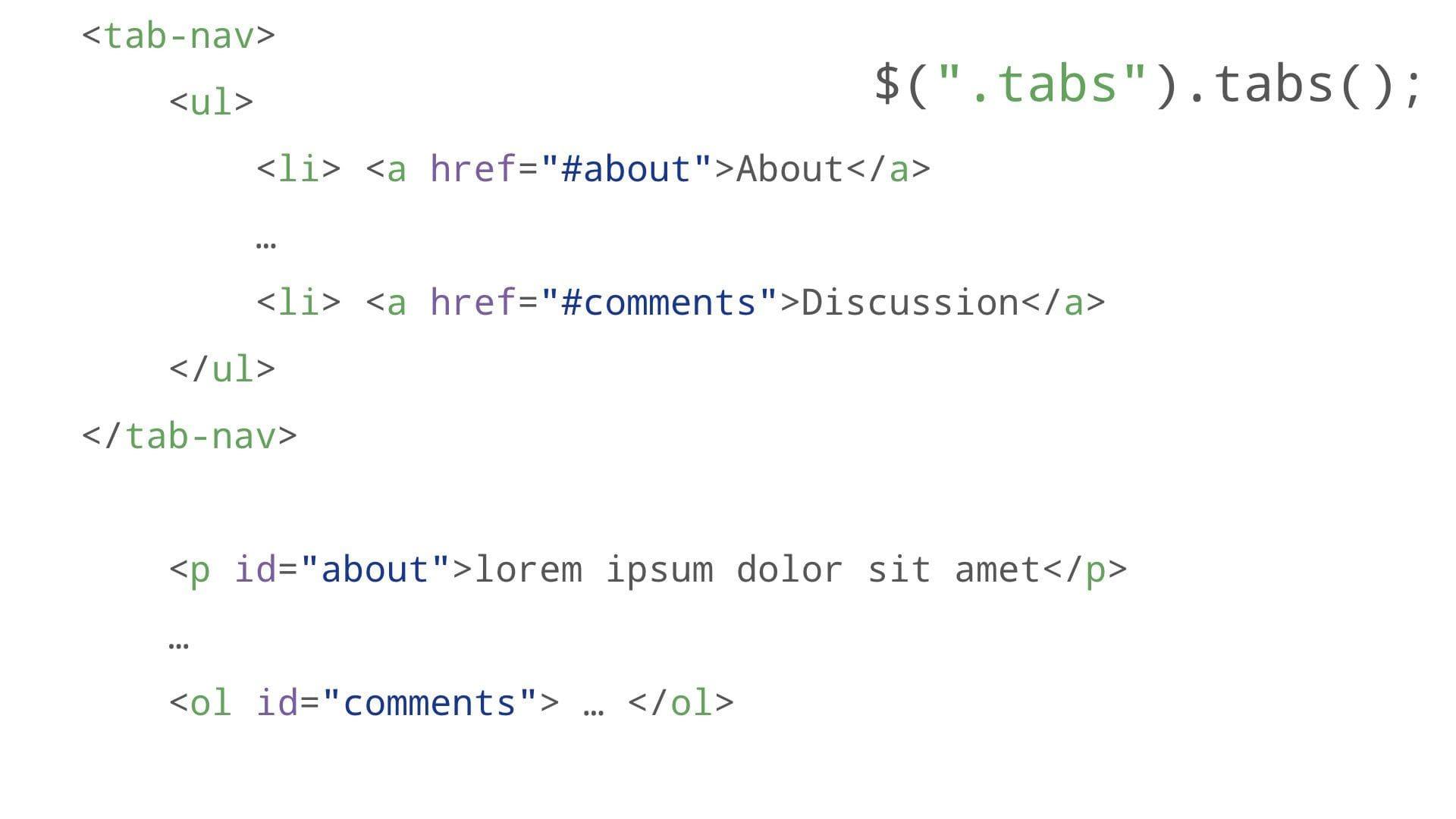 tabs markup with tab-nav