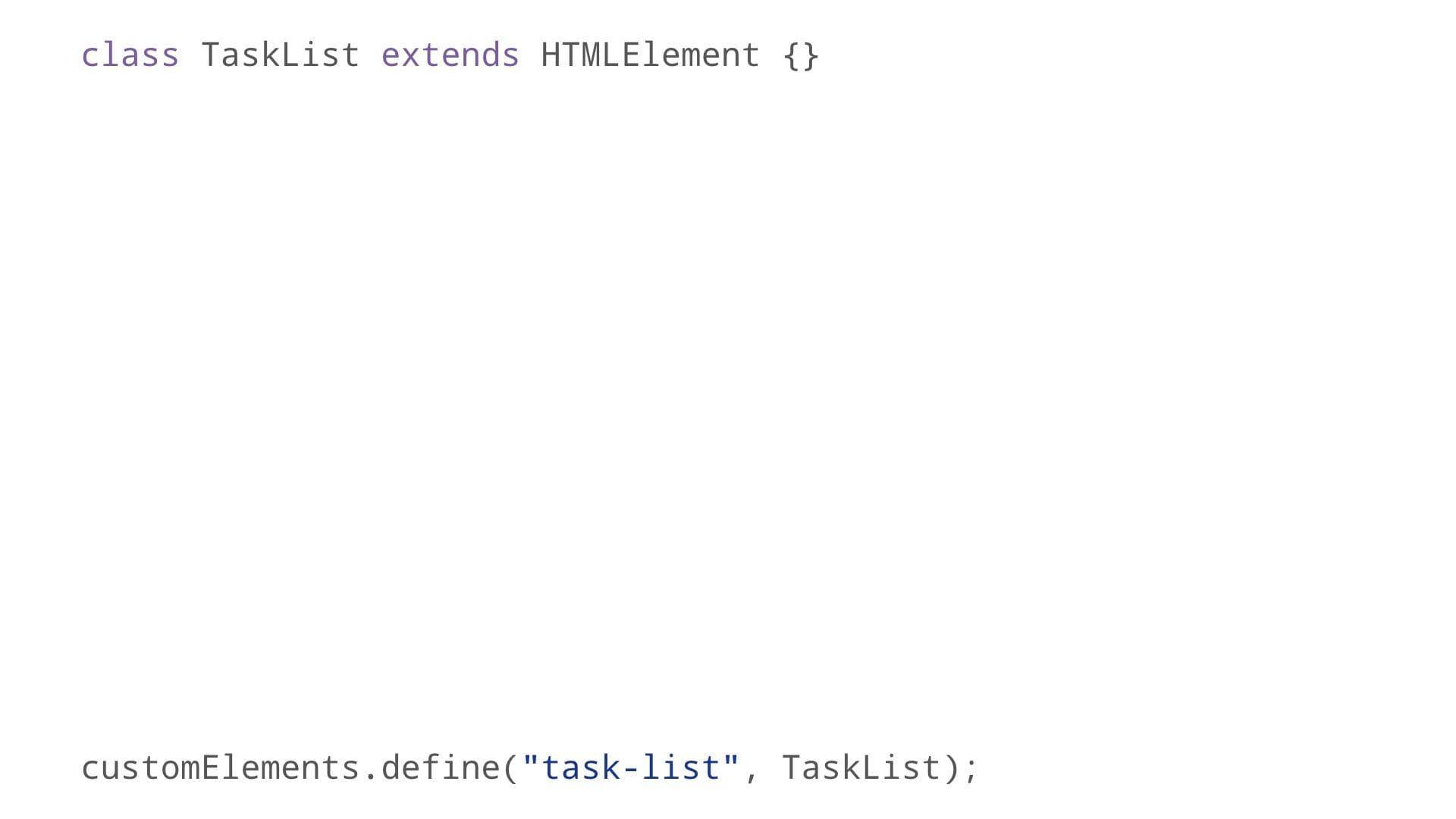 HTMLElement subclass