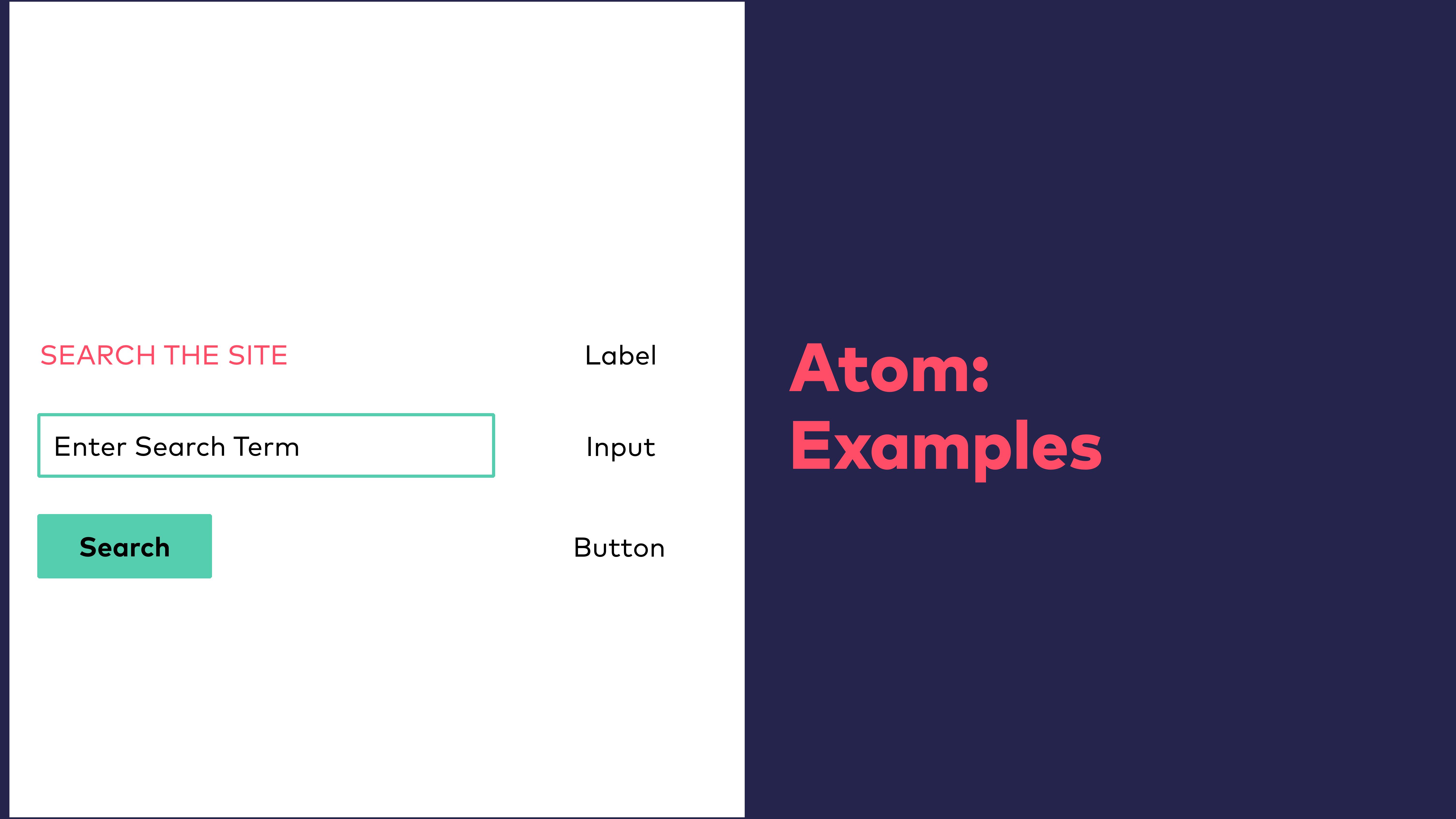 Abb. 6: Atomic Design - Atom Beispiele