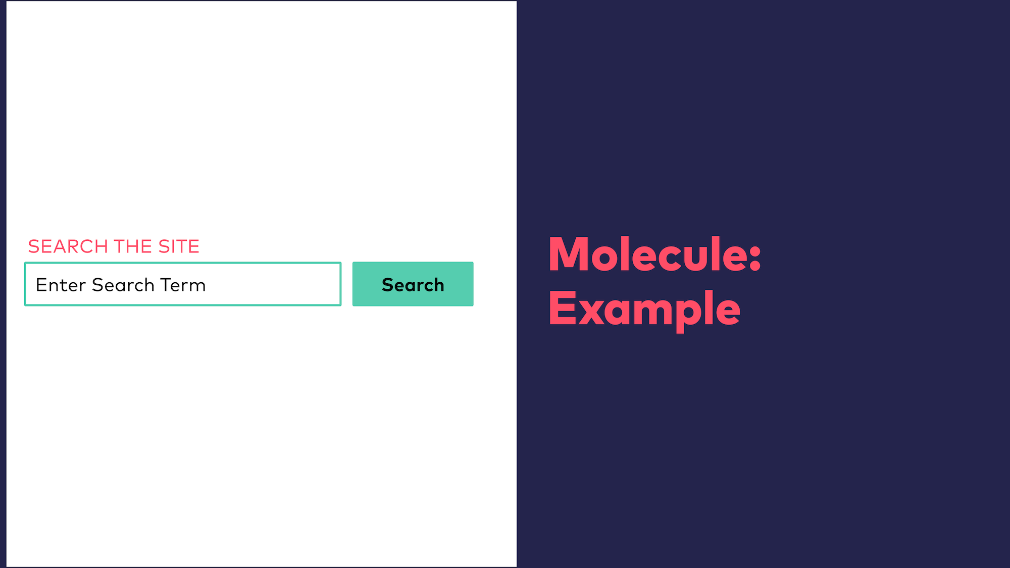 Abb. 8: Atomic Design - Molekül Beispiel