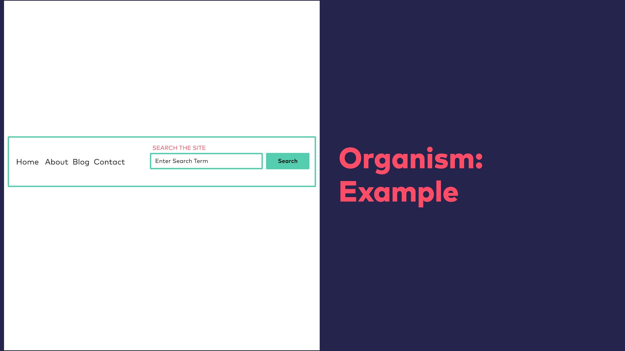Abb. 10: Atomic Design - Organismus Beispiel