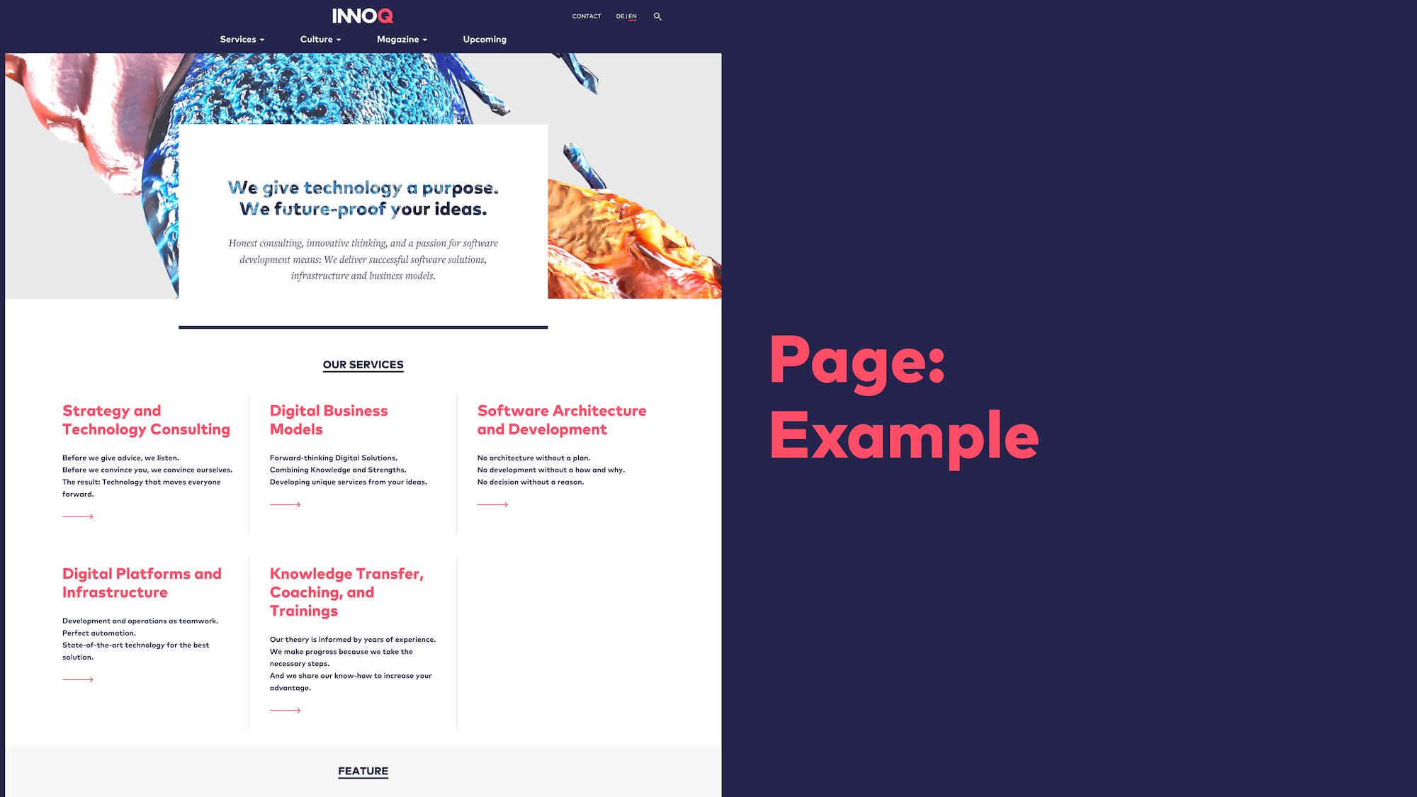 Abb. 14: Atomic Design - Page Beispiel