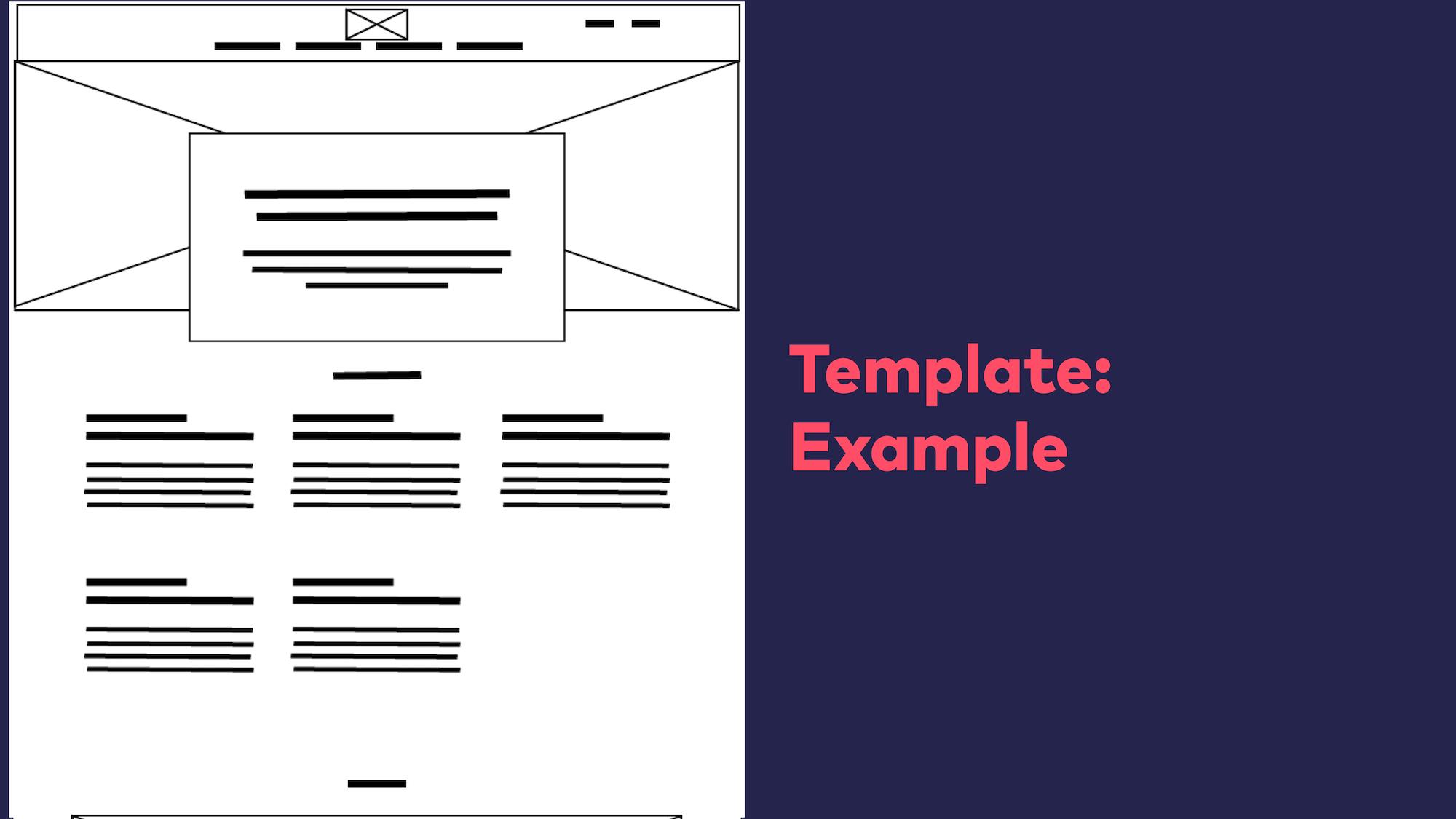 Abb. 12: Atomic Design - Template Beispiel