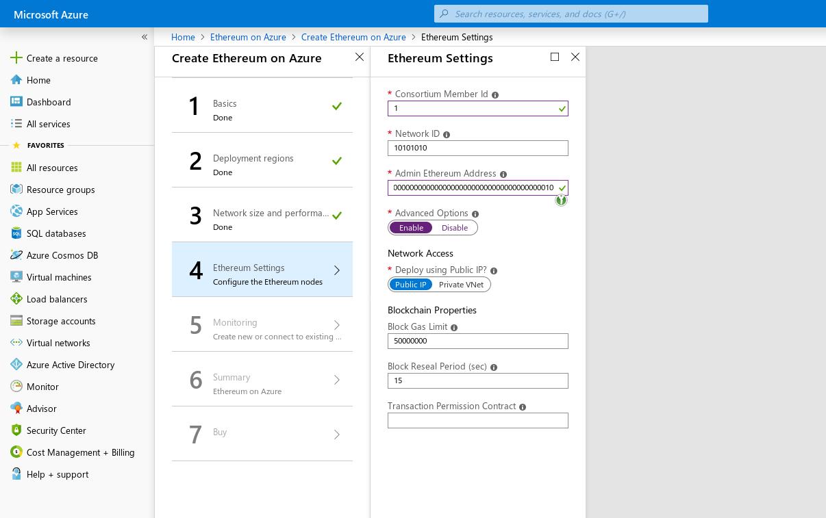 Azure Ethereum assistant