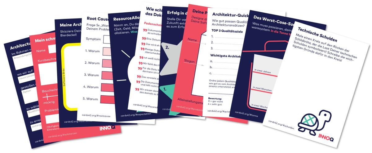 Eine Auswahl der cards42-Mitmach-Karten